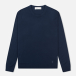 Мужской свитер Pringle of Scotland Pique Trim Round Neck Navy фото- 0
