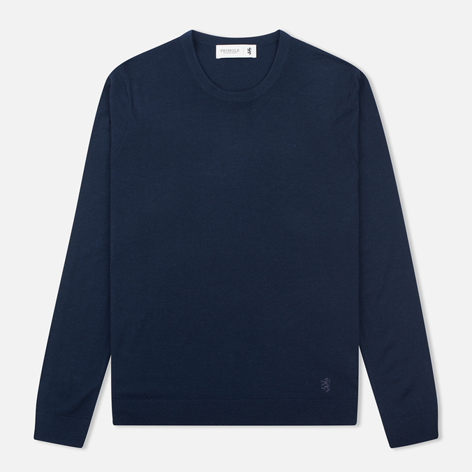 Мужской свитер Pringle of Scotland Pique Trim Round Neck Navy