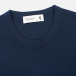 Мужской свитер Pringle of Scotland Pique Trim Round Neck Navy фото- 1