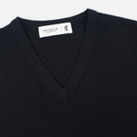 Мужской свитер Pringle of Scotland Pique Trim V Neck Black фото- 1
