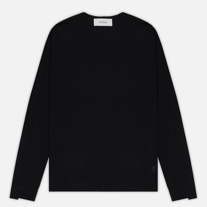 Мужской свитер Pringle of Scotland Rib Trim V-Neck Black