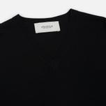 Мужской свитер Pringle of Scotland Rib Trim V-Neck Black фото- 1