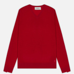Мужской свитер Pringle of Scotland Rib Trim V-Neck Red фото- 0