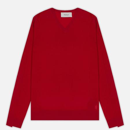 Мужской свитер Pringle of Scotland Rib Trim V-Neck Red