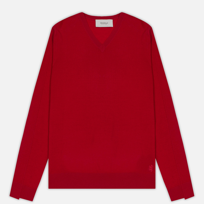 Мужской свитер Pringle of Scotland Rib Trim V-Neck Red