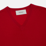 Мужской свитер Pringle of Scotland Rib Trim V-Neck Red фото- 1