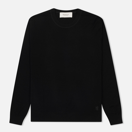 Мужской свитер Pringle of Scotland Round Neck Merino Wool Black