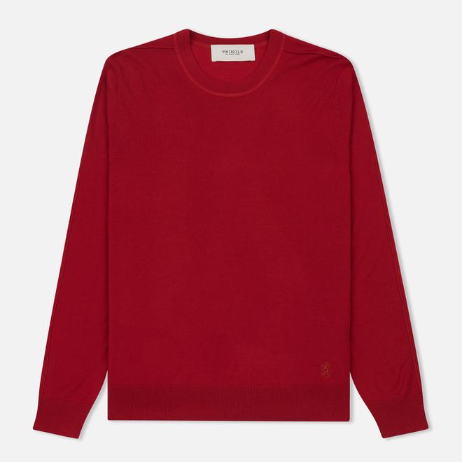 Мужской свитер Pringle of Scotland Round Neck Merino Wool Red