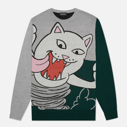 Мужской свитер RIPNDIP Nermanian Devil Heather/Green