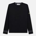 Мужской свитер Stone Island Bicolor Optical Ribbing Effect Black фото- 0