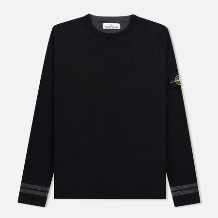 Мужской свитер Stone Island Bicolor Optical Ribbing Effect Black