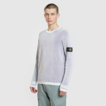 Мужской свитер Stone Island Bicolor Optical Ribbing Effect Ice фото- 1