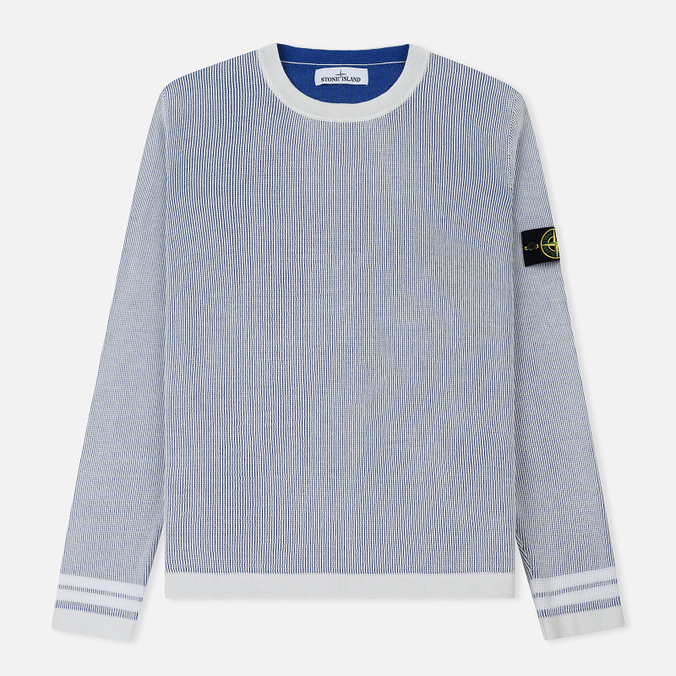 Мужской свитер Stone Island Bicolor Optical Ribbing Effect Ice