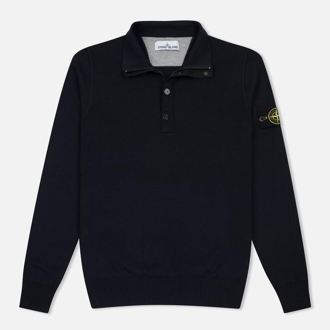 Мужской свитер Stone Island Brushed Cotton Knit Navy Blue