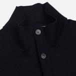 Мужской свитер Stone Island Brushed Cotton Knit Navy Blue фото- 2