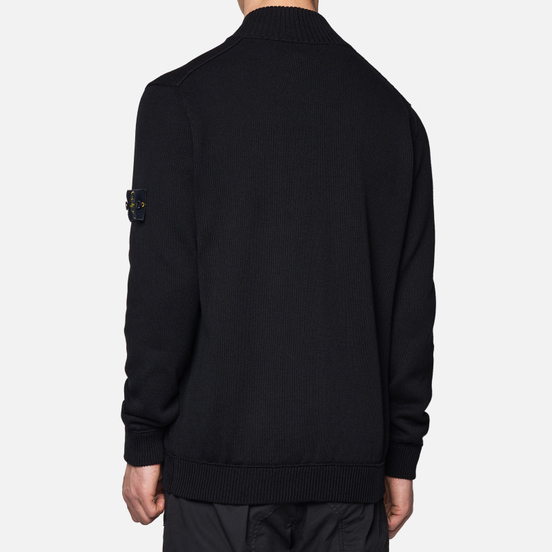 Мужской свитер Stone Island Cardigan Zip Terry Stitch Black