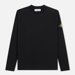 Мужской свитер Stone Island Classic Crew Neck Cotton Black фото- 0