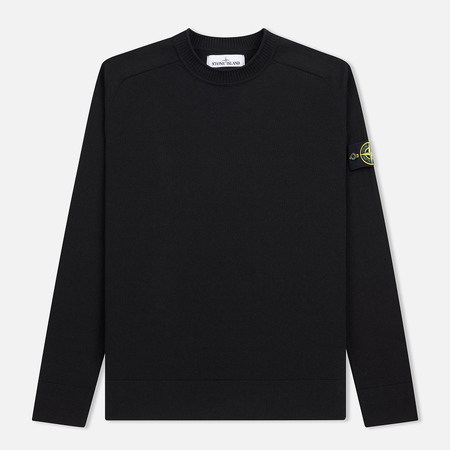 Мужской свитер Stone Island Classic Crew Neck Cotton Black
