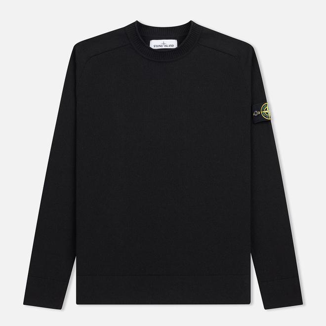 Мужской свитер Stone Island Classic Crew Neck Cotton Black