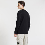 Мужской свитер Stone Island Classic Crew Neck Cotton Black фото- 2