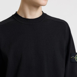 Мужской свитер Stone Island Classic Crew Neck Cotton Black фото- 3