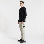 Мужской свитер Stone Island Classic Crew Neck Cotton Black фото- 1