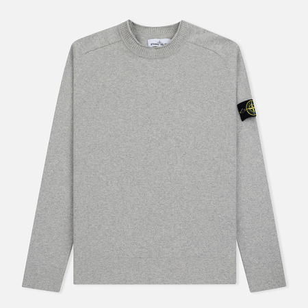 Мужской свитер Stone Island Classic Crew Neck Cotton Dust Grey
