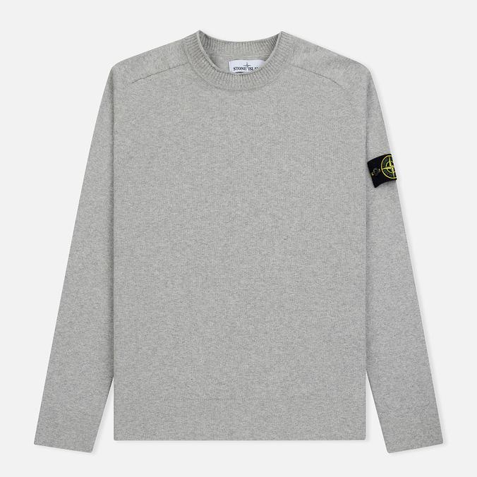 Мужской свитер Stone Island Classic Crew Neck Cotton Dust Grey