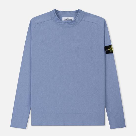 Мужской свитер Stone Island Classic Crew Neck Cotton Lavender