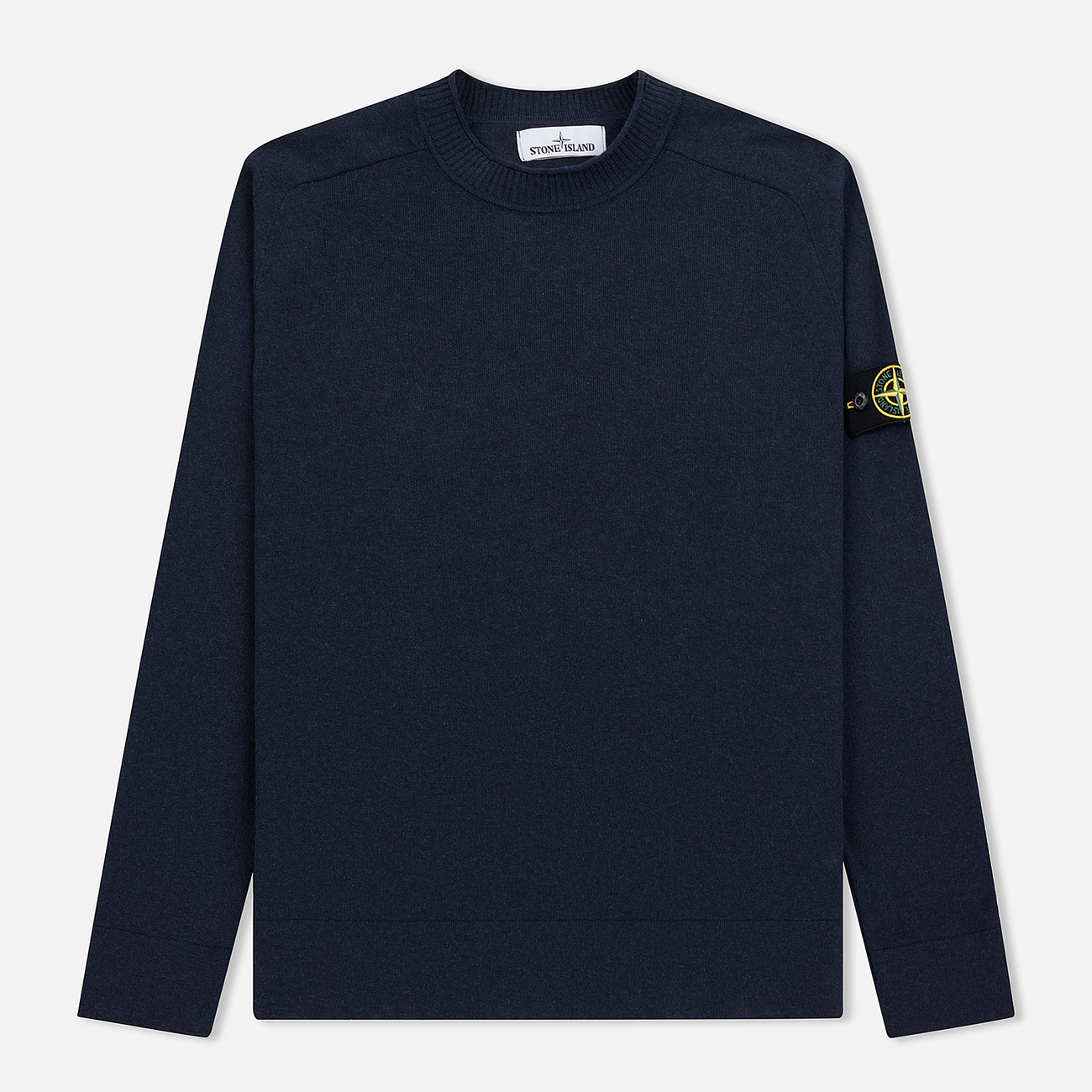 Мужской свитер Stone Island Classic Crew Neck Cotton Marine Blue