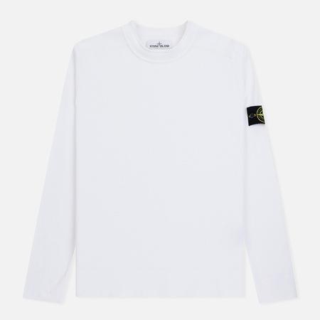 Мужской свитер Stone Island Classic Crew Neck Cotton White