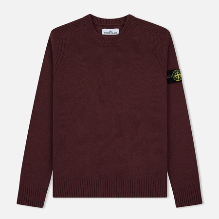 Мужской свитер Stone Island Classic Lightweight Wool Dark Burgundy