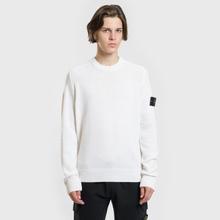 Мужской свитер Stone Island Classic Lightweight Wool Natural White фото- 1
