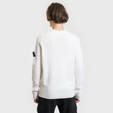 Мужской свитер Stone Island Classic Lightweight Wool Natural White фото- 3