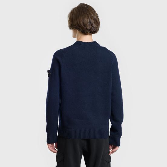 Мужской свитер Stone Island Classic Lightweight Wool Navy