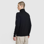Мужской свитер Stone Island Collar Hidden Zip And Four Buttons Black фото- 3