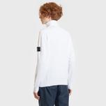 Мужской свитер Stone Island Collar Hidden Zip And Four Buttons White фото- 3