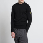 Мужской свитер Stone Island Crew Neck Brushed Cotton Black фото- 6
