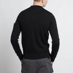 Мужской свитер Stone Island Crew Neck Brushed Cotton Black фото- 7