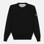 Мужской свитер Stone Island Crew Neck Brushed Cotton Black фото- 0