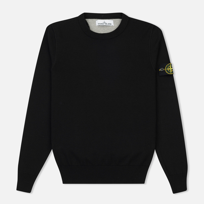 Мужской свитер Stone Island Crew Neck Brushed Cotton Black