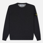 Мужской свитер Stone Island Crew Neck Brushed Cotton Grey фото- 0