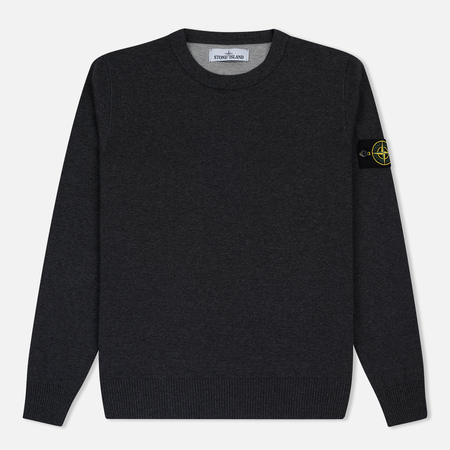 Мужской свитер Stone Island Crew Neck Brushed Cotton Grey