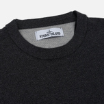 Мужской свитер Stone Island Crew Neck Brushed Cotton Grey фото- 1
