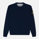 Мужской свитер Stone Island Crew Neck Brushed Cotton Navy Blue фото- 0