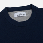 Мужской свитер Stone Island Crew Neck Brushed Cotton Navy Blue фото- 1