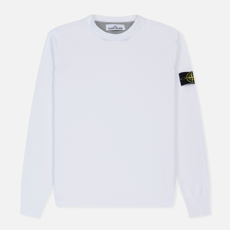 Мужской свитер Stone Island Crew Neck Brushed Cotton White