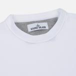 Мужской свитер Stone Island Crew Neck Brushed Cotton White фото- 1