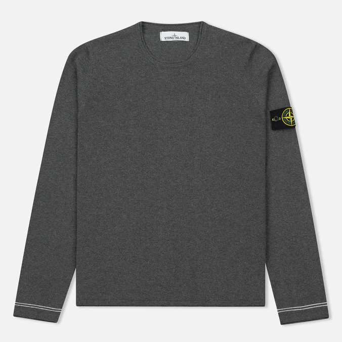 Мужской свитер Stone Island Crew Neck Knit Grey