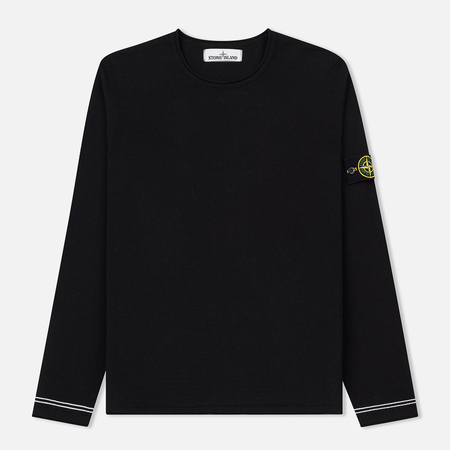Мужской свитер Stone Island Crew Neck Knit Lightweight Cotton Crepe Navy Blue